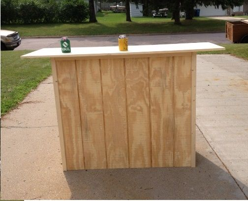 Create Your Own Portable Bar! Perfect For Inside Or Outside Of Your House! #
