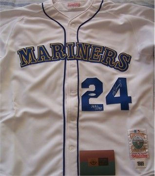 new arrival 3ab57 ea79e Ken Griffey Jr. Seattle Mariners 1989 rookie Mitchell & Ness ...