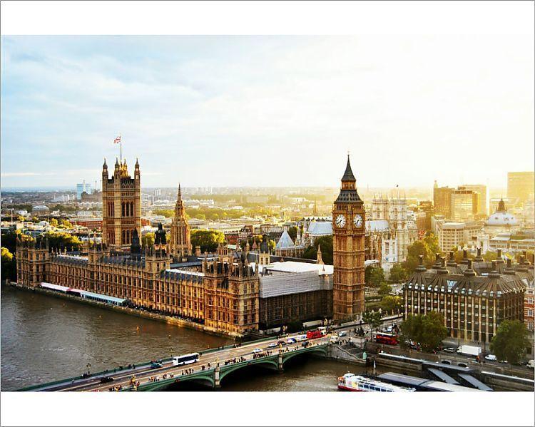 Print Of High Angle View Of Westminster Bridge By Big Ben Against Sky Westminster Bridge Houses Of Parliament London Weekend In London