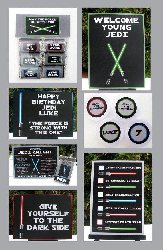 Star Wars Birthday Party Invitation Full Von SIMONEmadeit Auf Etsy