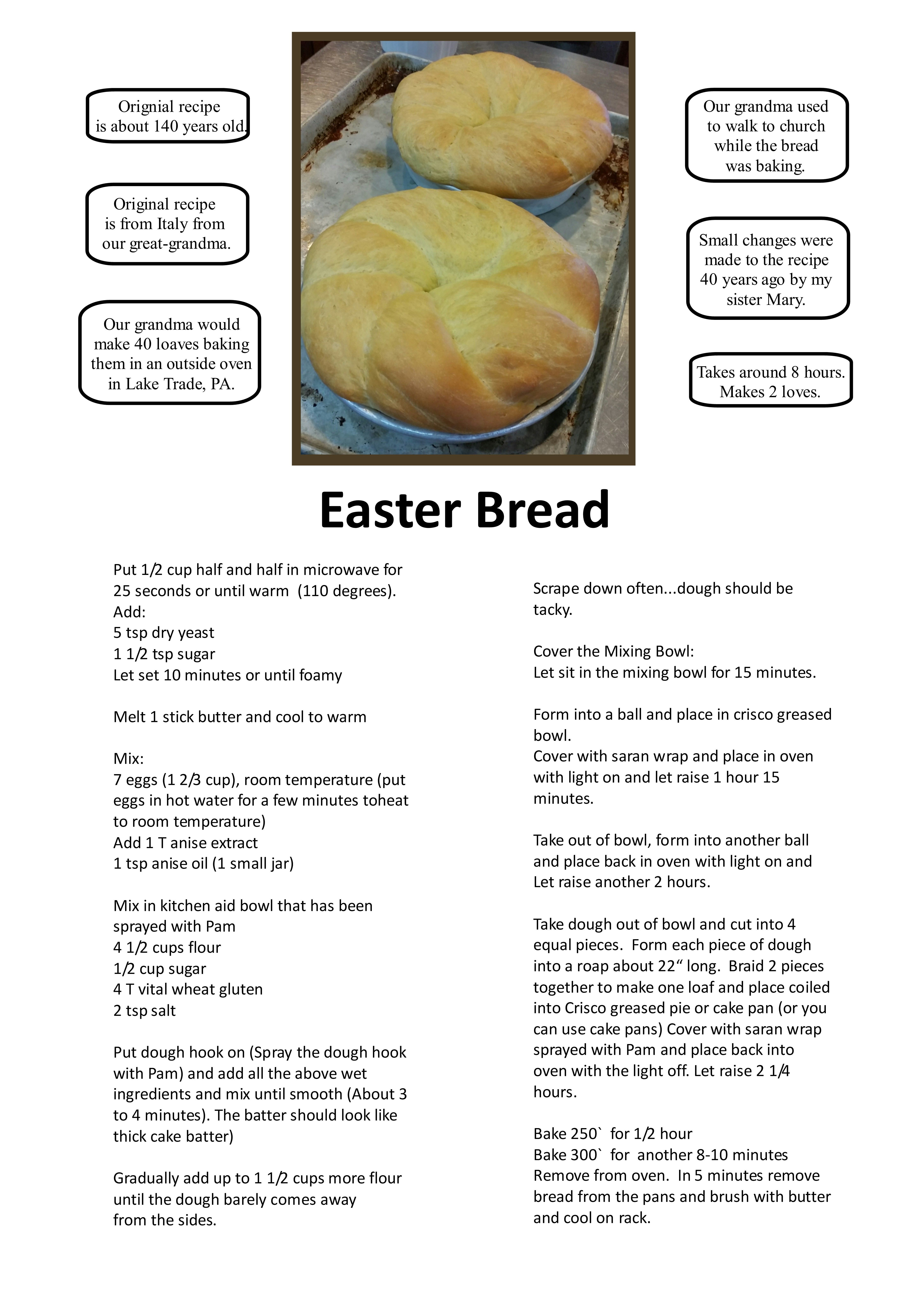 Our traditional Italian Easter bread. Original recipe is around 140 ...