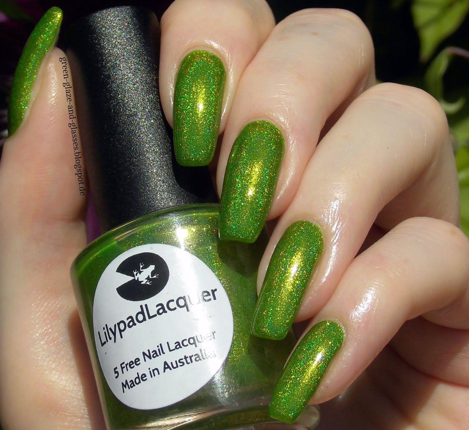 Green, Glaze & Glasses: Lacke in Farbe... und bunt! - Grün (Lilypad Lacquer - Frogs Alive)