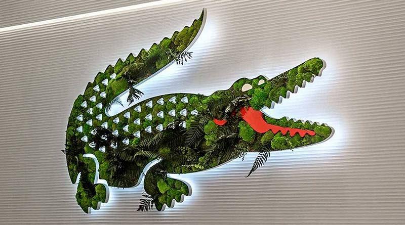 fd0bc710754f2 PAINEL  VERDE  DA FAMOSA MARCA DE CAMISAS POLO – O crocodilo abandona a  floresta