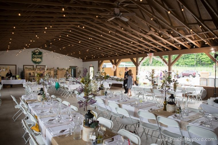 Banquet Hall Petoskey Michigan Photo Wedding Ceremony Reception Location At Mackinaw Trail Winery And