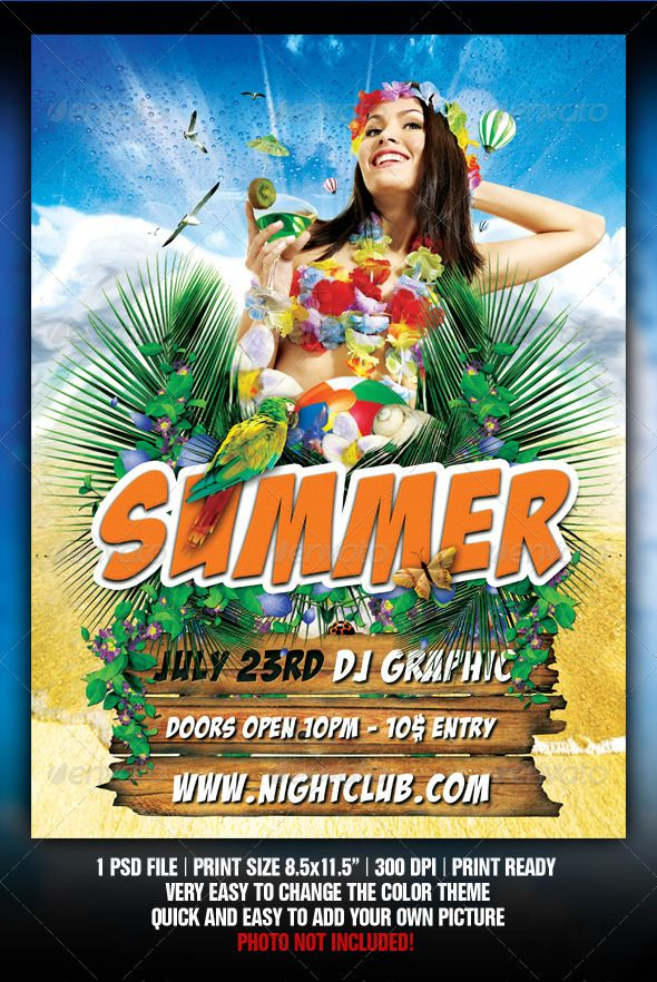 Beach Party Flyer  Party Flyer Print Templates And Flyer Printing