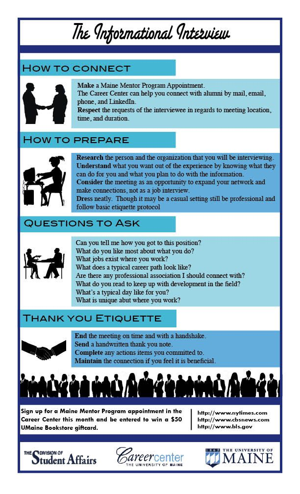 The Informational Interview #mainementor UMaine Resources