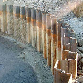 Sheet Pile Walls Retaining Wall Construction Retaining Wall Masonry Wall