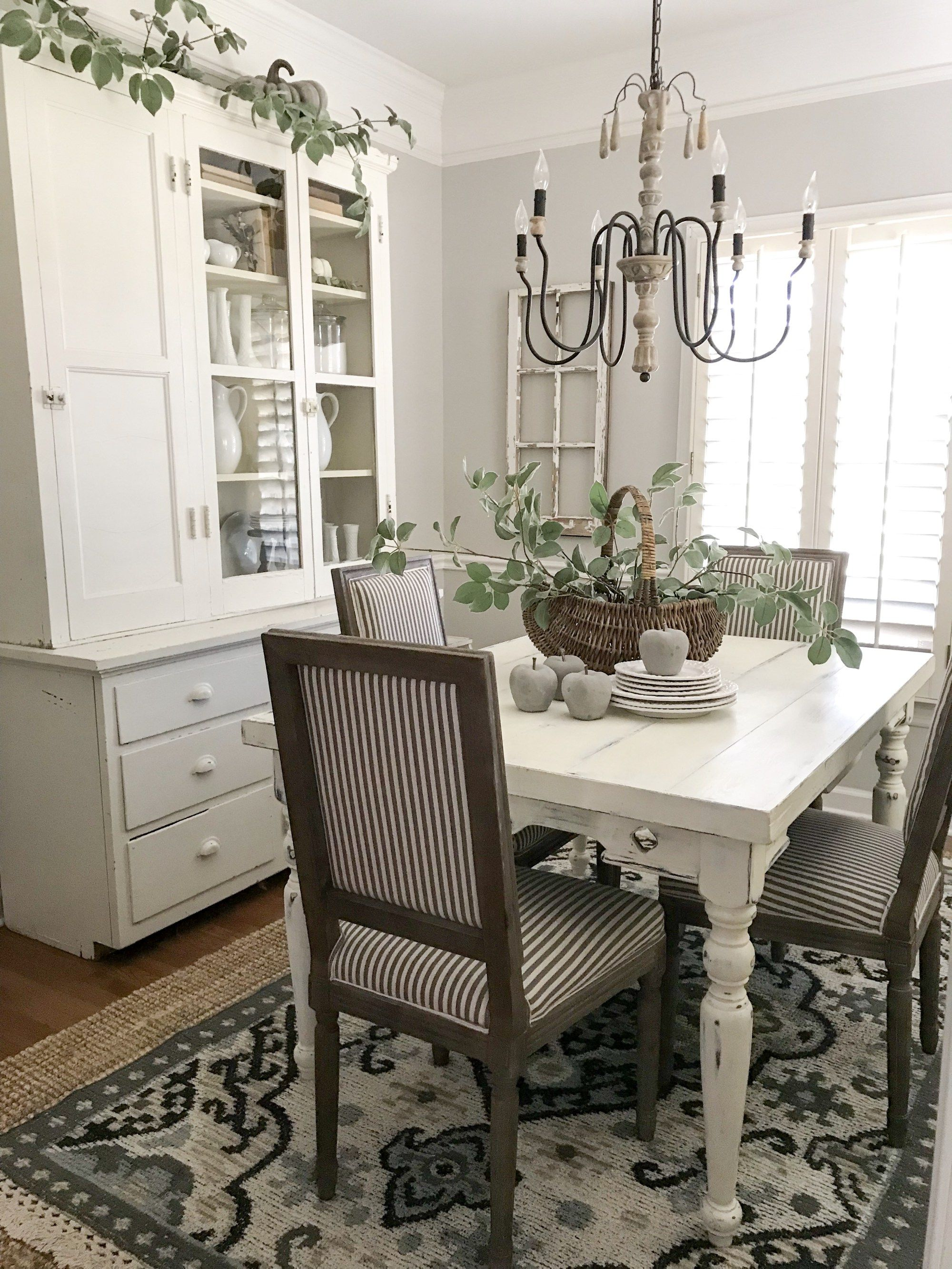 Simple Dining Room Design: Autumn Inspiration Blog Hop- Simple Dining Room Tour