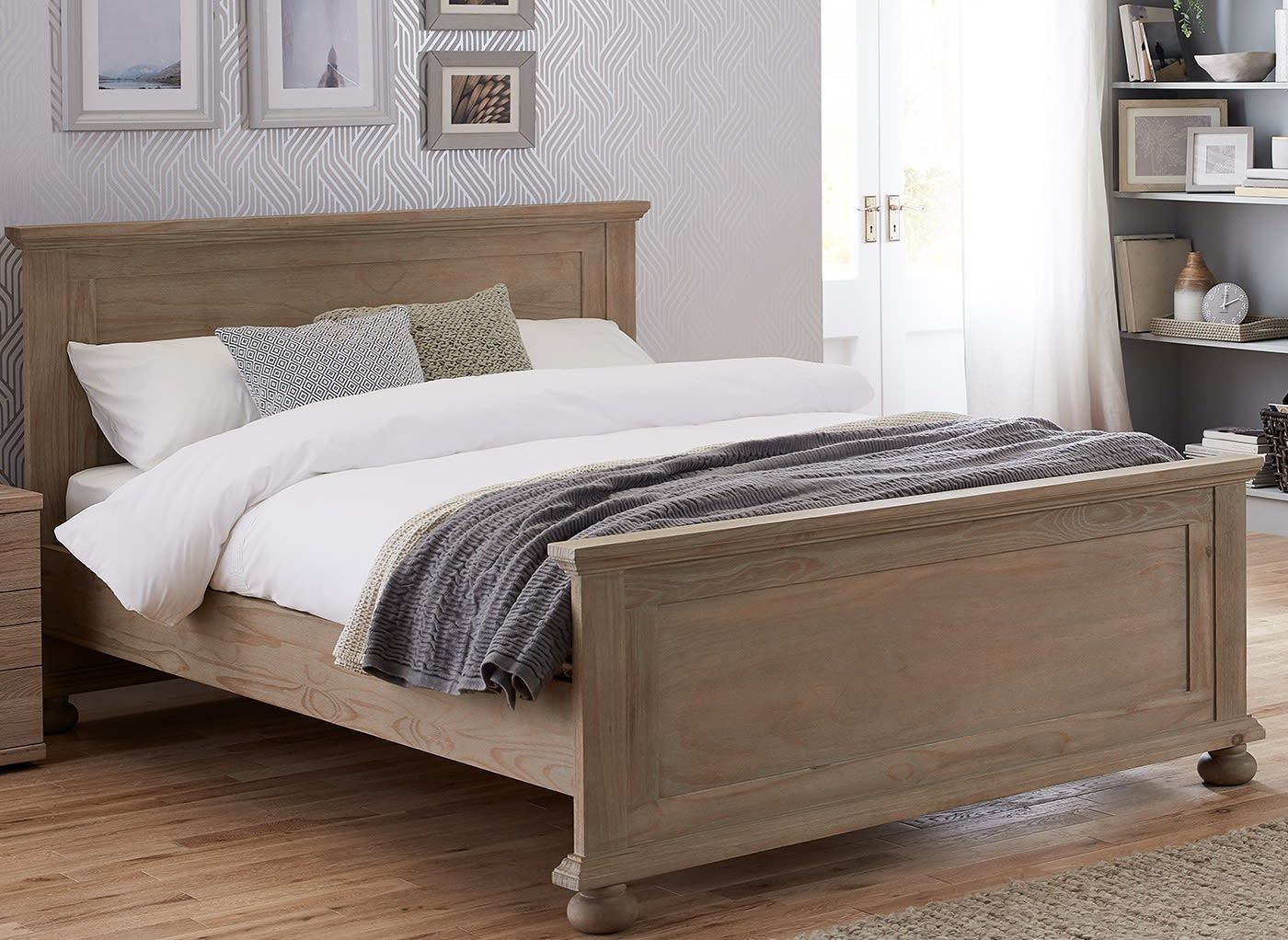 Jameson Natural Pine Wooden Bed Frame Home Ideas Wooden Bed
