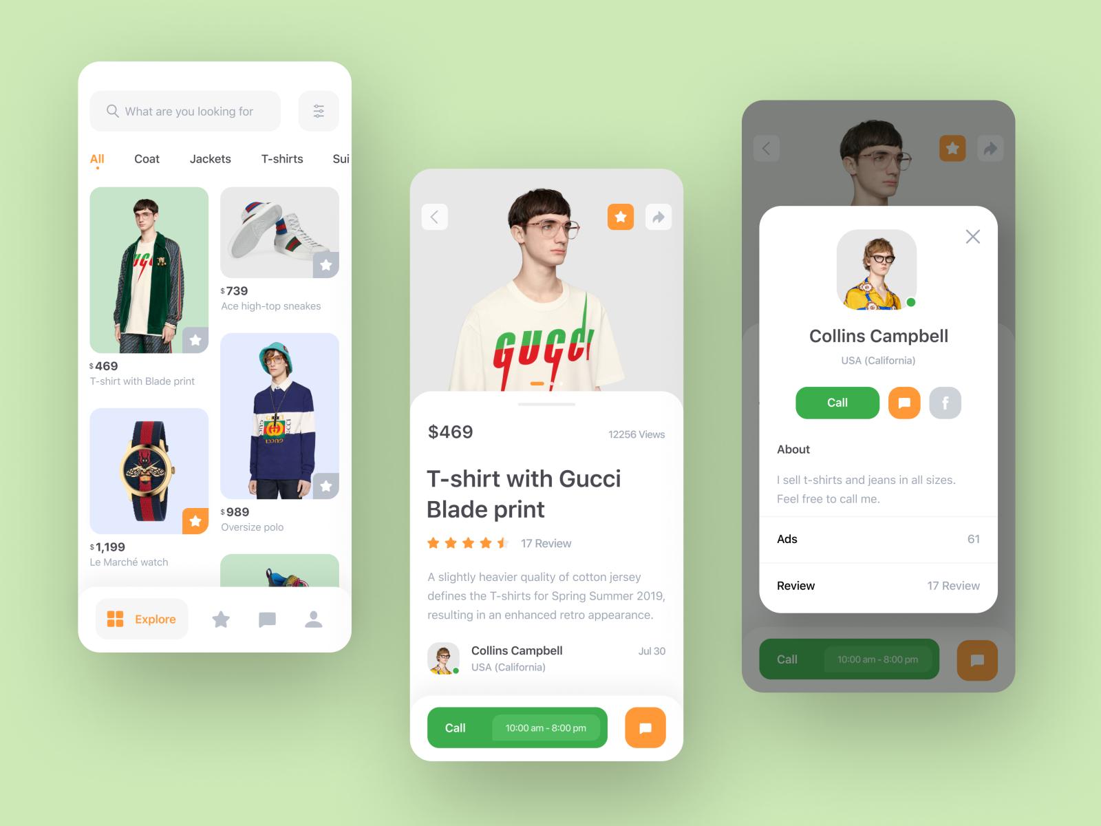Marketplace app concept App design, App, App development