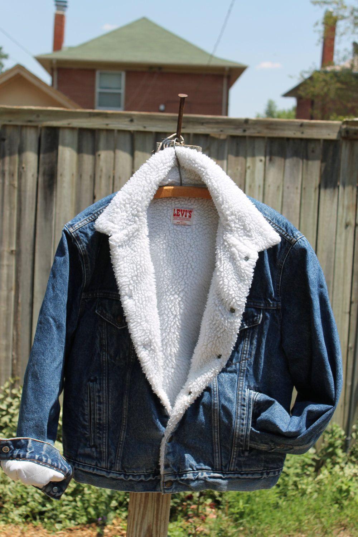 Vintage Levis Sherpa Faux Fleece Lined Denim Jean Jacket Etsy Denim Jean Jacket Jackets Vintage Levis [ 1500 x 1000 Pixel ]