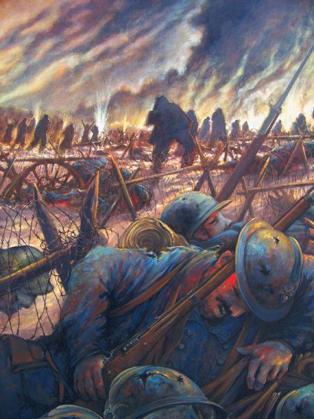 J F Galea Chapelle De L Ossuaire Memorial De Douaumont Verdun France Bataille De Verdun Premiere Guerre Mondiale Peinture