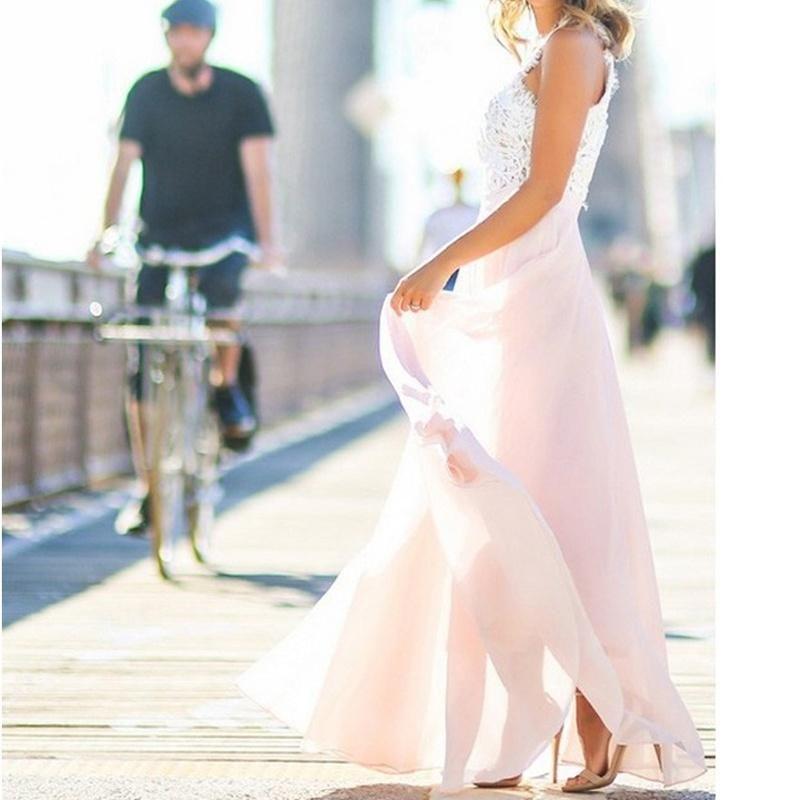 c4152c65c1 Women Sexy Summer Lace Maxi Long Dress Evening Party Prom Dress Sundress  Chiffon Dress