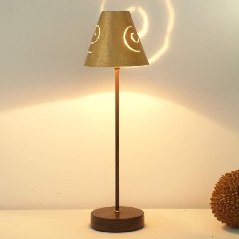 Elegante Ijzeren Tafellamp Schneckenhut Gold Tafellamp Ijzer Binnenverlichting
