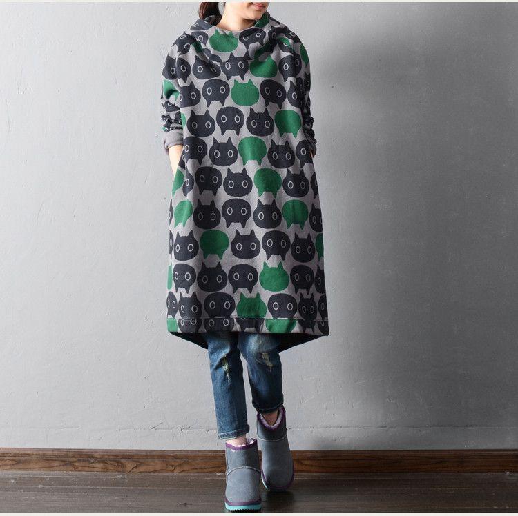 Long sleeve cotton large size sweatershirts