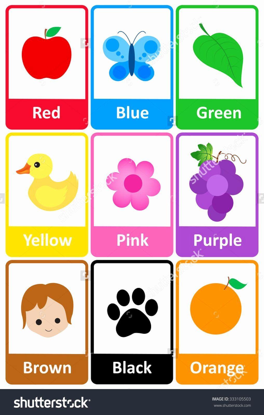 Vegetables Coloring Flashcards Fresh Imagen Relacionada Printable Flash Cards Preschool Colors Printable Flash Cards Color Flashcards
