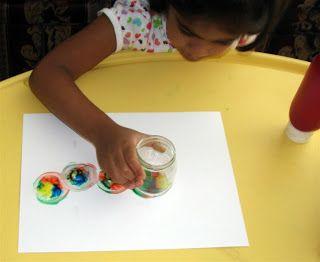 Spin art w/glass jar