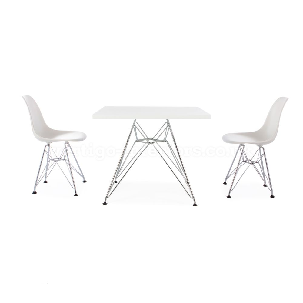 We love this table set from Vertigo Interiors USA. ( Kids Square White Table & 2 Kids DSR Chairs ). This #FithWallFriday is all about fun, creativity, bright colors and Ceilume's Roman Circle Ceiling Tiles. www.ceilume.com/