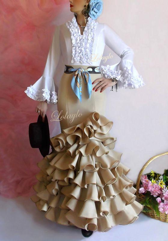 Flamenco falda flamenca sevillana sevillanas traje for Modelo cordobesa