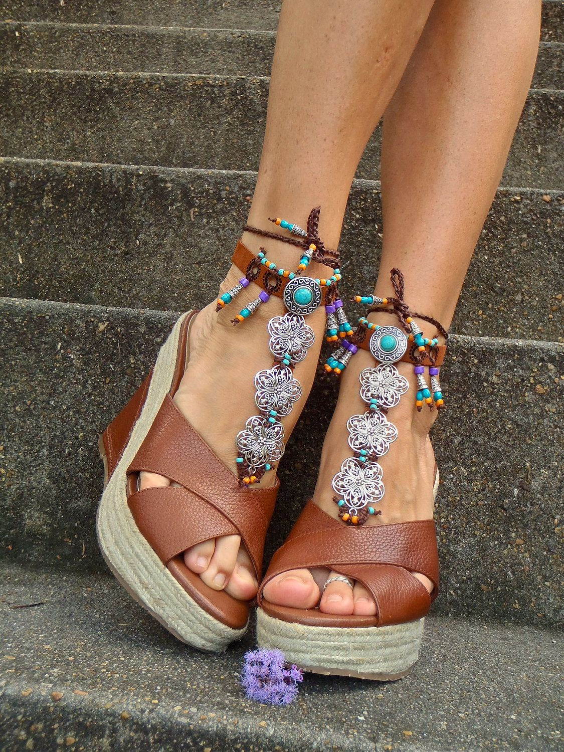 Bare foot sandals, Leather barefoot