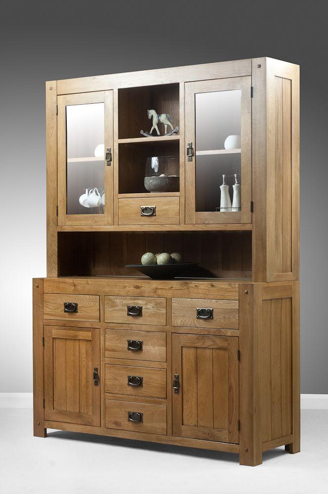 Quercus Solid Oak Furniture Range Cabinet Large Welsh Dresser Land Www Oakfurnitureland Co Uk