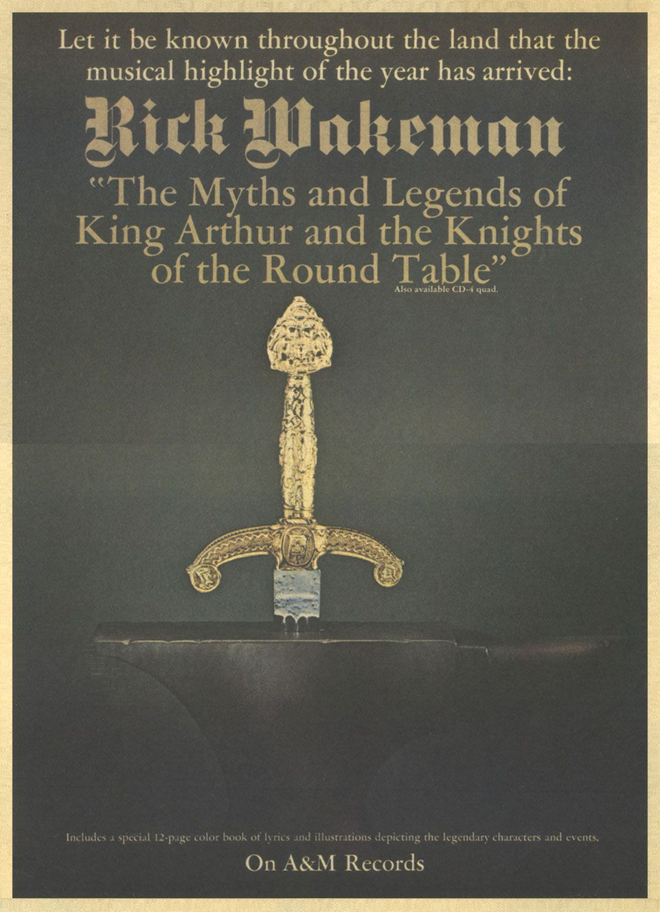 Rick Wakeman The Myths And Legends Of King Arthur Musica