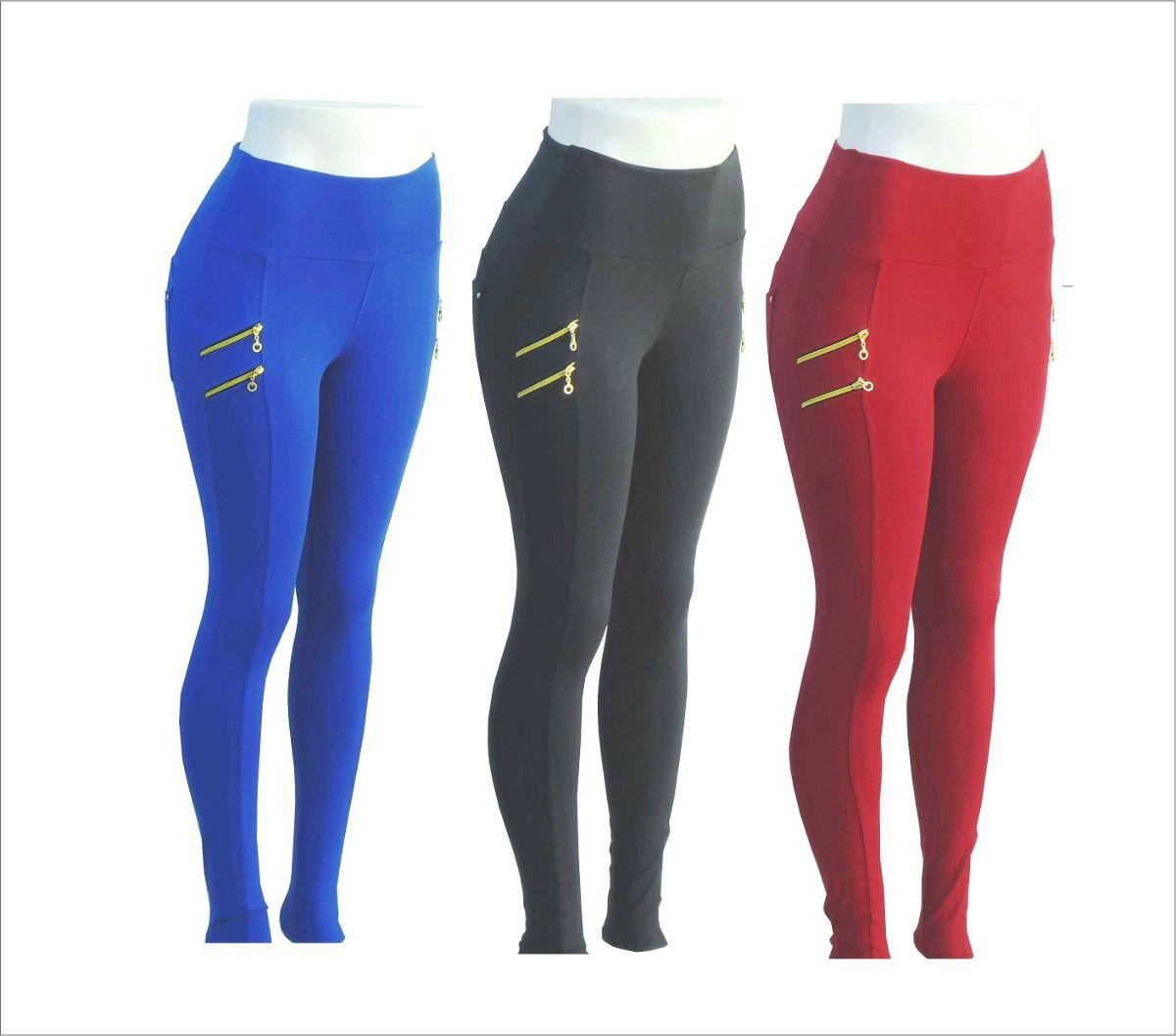 60293d6c8 calça legging montaria coloridas com zíper na lateral