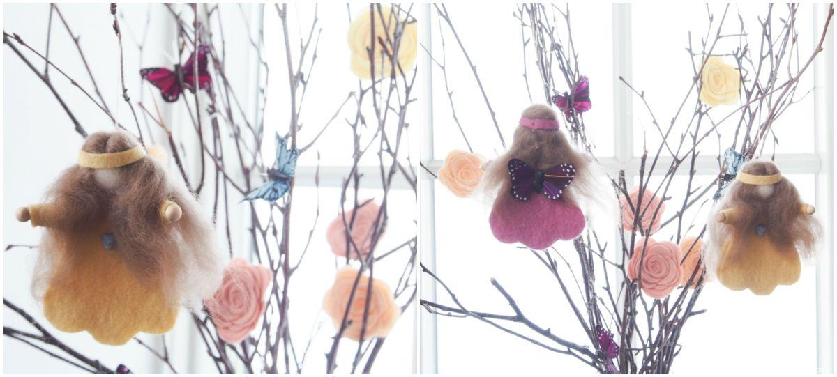 Handmade Spring Fairies :: DIY Felt Tutorial - The Magic Onions
