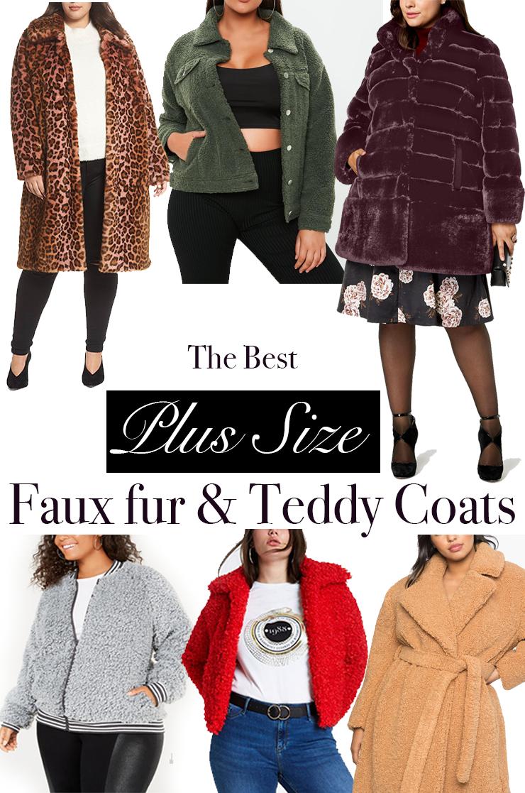 2cf87f2700e 15 Gorgeous Plus size Faux Fur. 15 Gorgeous Plus size Faux Fur  amp  Teddy  Coats You need now!