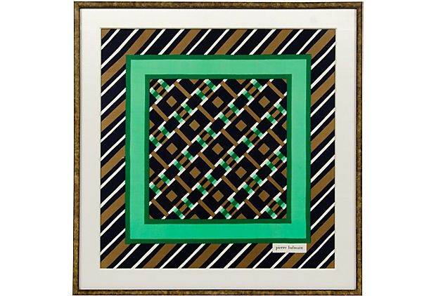 1970s Pierre Balmain scarf   foulard en soie Pierre Balmain d9196827b0d