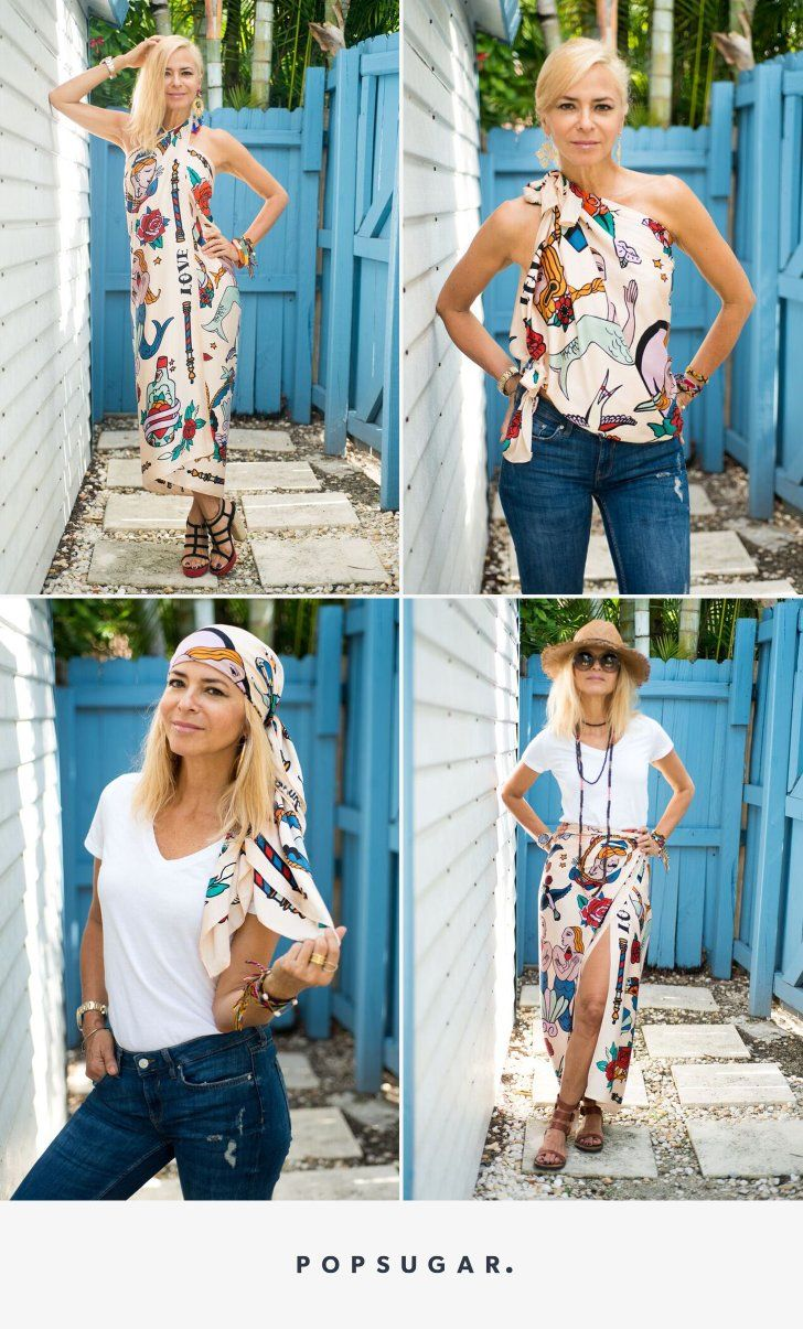 16 creative ways to tie a sarong ways to wear a scarf