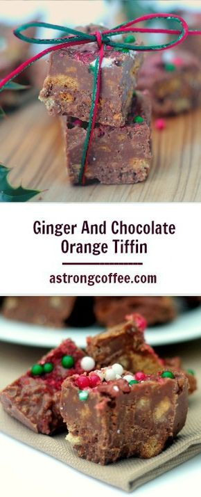 This easy to make no bake ginger and chocolate orange tiffin recipe tastes fantastic and is great as a homemade gift, Perfect for a teachers gift and one bite will leave you wanting more.Click through for the recipe and tips.