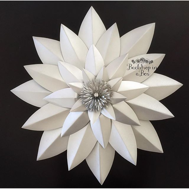 Mulpix Loved Making This Flat Paper Flower And Center Made Pop Up