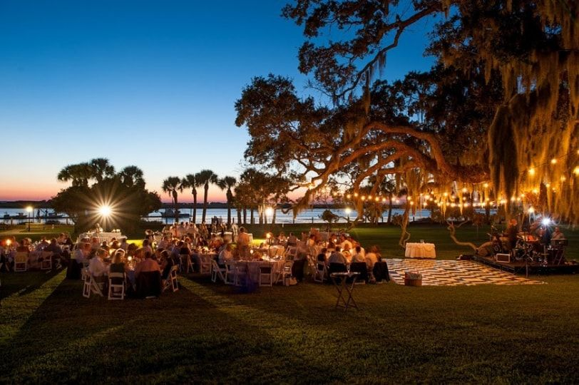 Riverfront Lawn Reception Wedding Venues Beach Jekyll Island Jekyll Island Club Hotel