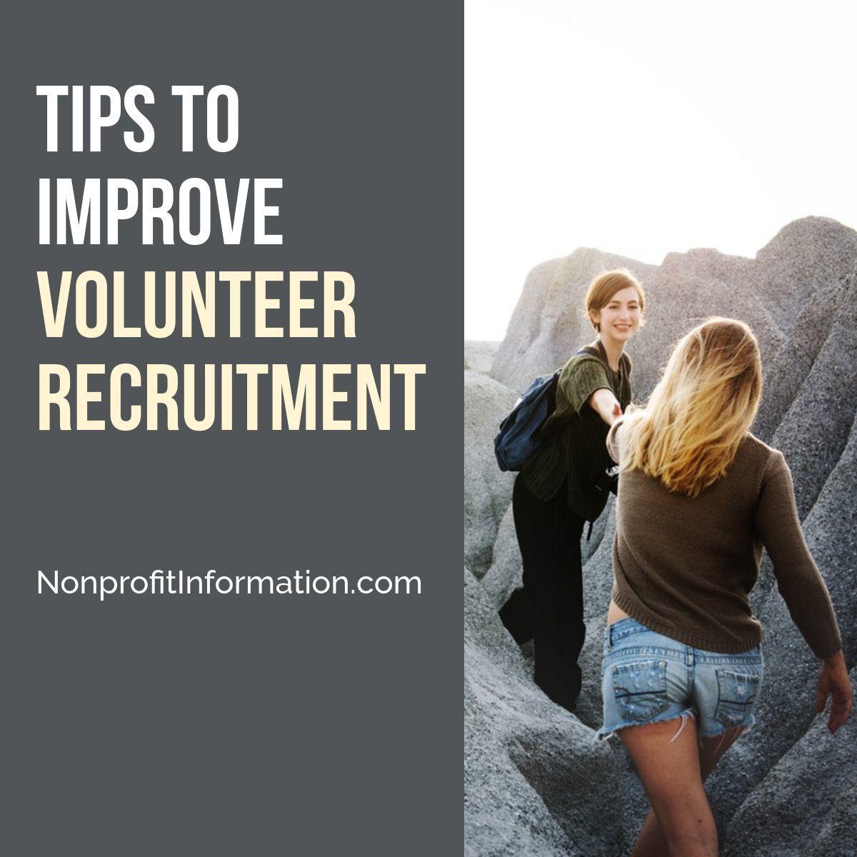 Tips to improve volunteer recruitment nonprofit