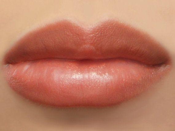 "Photo of Vegan Coral Lipstick – ""Flamingo"" (semi-sheer orange natural lip tint)"