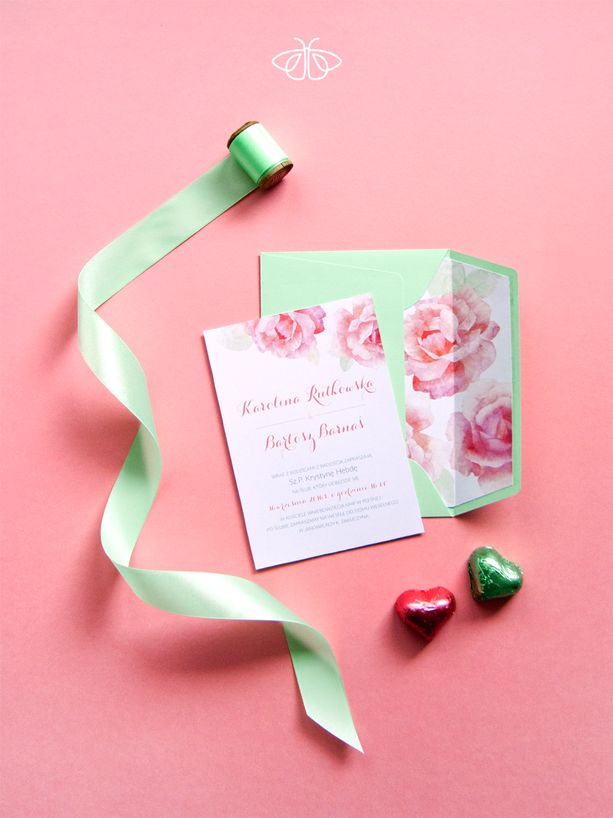 Sweet, pastel wedding inviation | BIELINEK wedding design ...