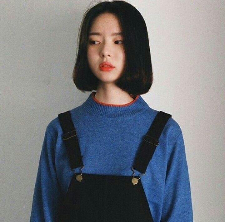 Korean Girl Icons Tumblr Ulzzang ̕ˆëŠ Style Girl Short Hair Short Hair Styles
