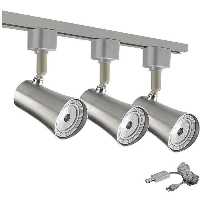 Led Brushed Nickel 3 Light Plug In Track Kit T9788 9c035 8v529