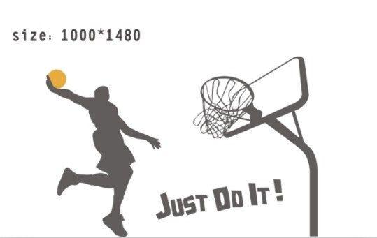 Just Do It Slam Dunk Basketball Man Vinyl Wall Decal By Lovewall0 Kids Sports Room Basketball Room Decor Basketball Wall Decals