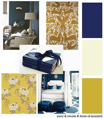 Navy Mustard And Cream Room Yellow Decor Home Design Decor