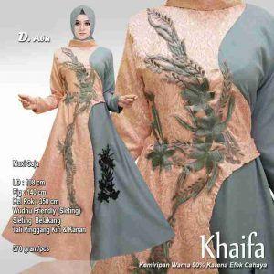 Baju Muslim Pesta Priska Brokat Kombinasi Baloteli Model Pakaian