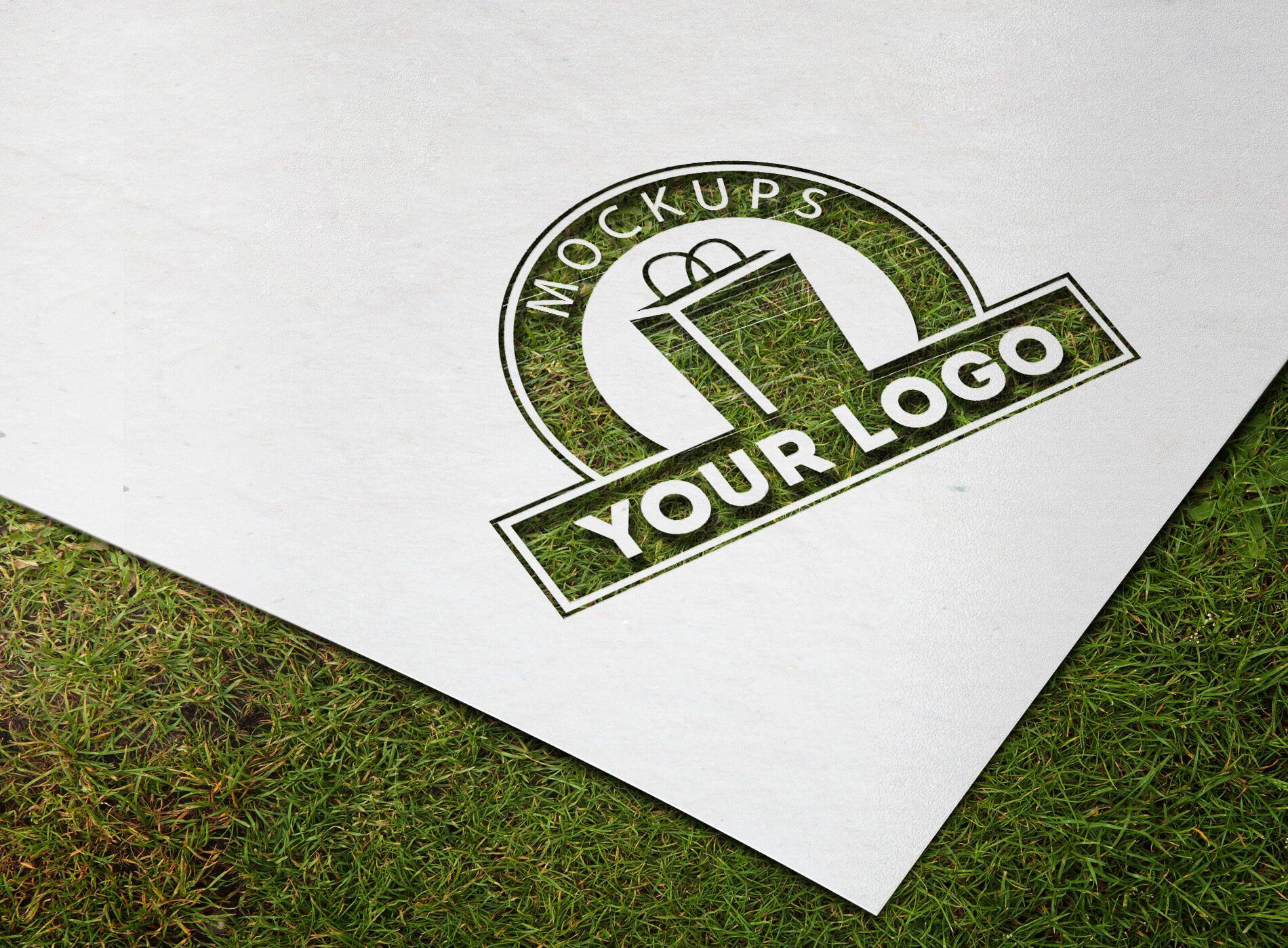 Paper Cutout Logo Mockup Free Logo Mockup Logo Mockup Free Logo Mockup Psd
