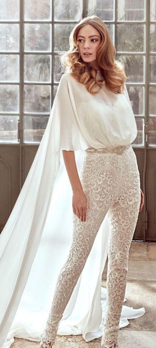 513a13290cf 40+ Jumpsuit Wedding Dresses Ideas 2
