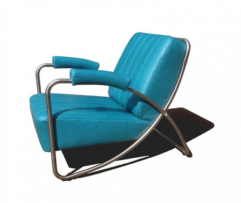 Art deco buisframe relax fauteuil.  Nestor. Dutch design in Nederland ontworpen en vervaardigd.    Een kwalitatief hoogwaardig nieuw zakelijkheid (1925-1940) RVS buisframe is gebruikt in deze solide lounge of rokers fauteuil. Waardoor deze lounge chair een tijdloze uitstraling heeftl. Een kameleon voor in uw huiskamer. Met de vele kleuren stoffen, leer, kunstleder en prints is deze stoel een echte charmeur.