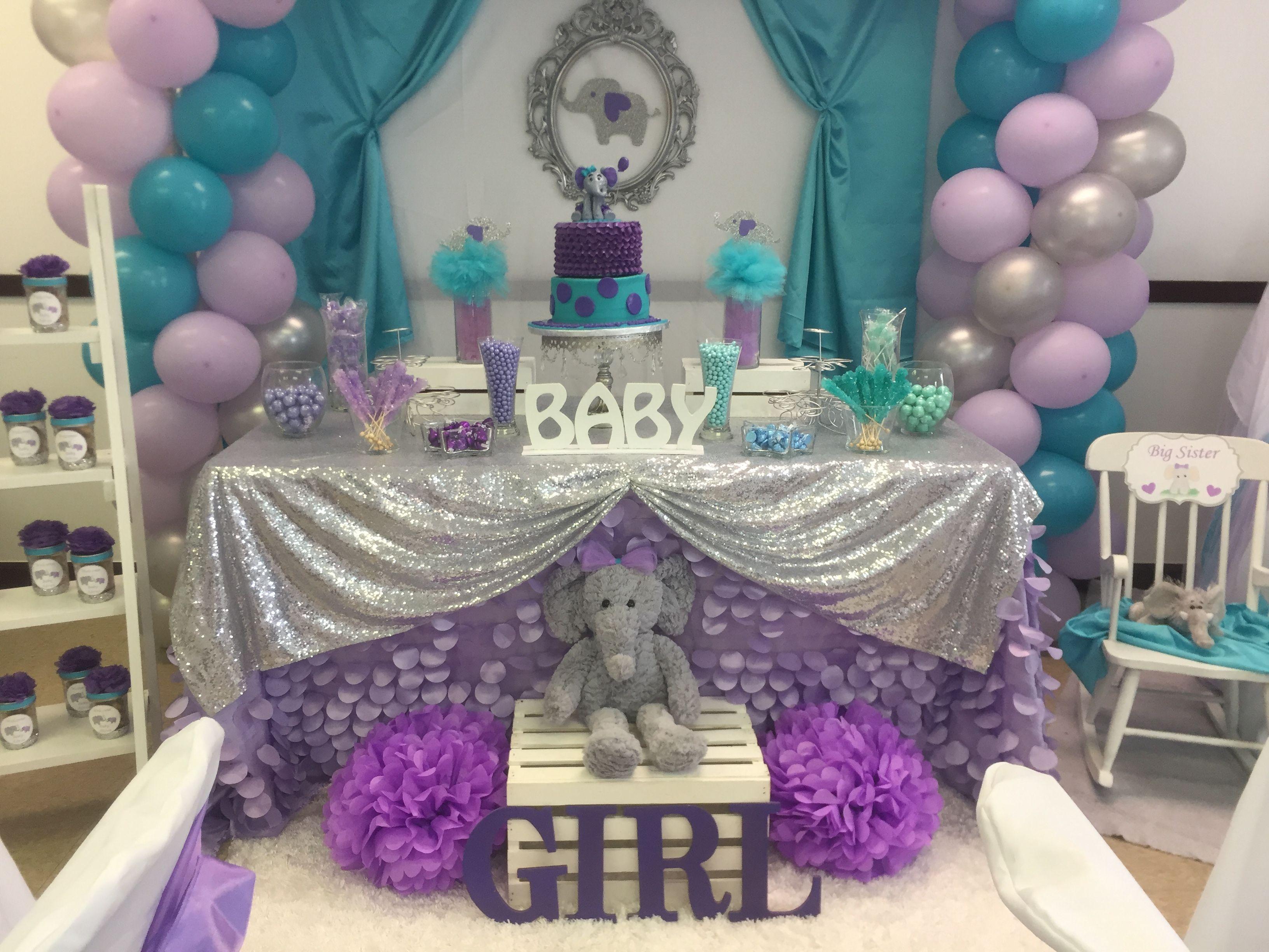 elephant theme baby shower kr kreations baby shower. Black Bedroom Furniture Sets. Home Design Ideas