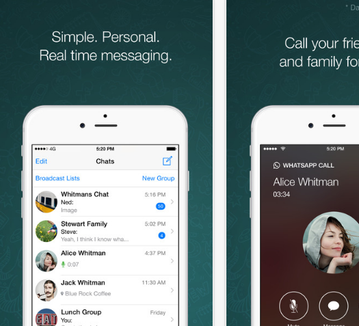 WhatsApp is a free messaging app available for Android, ios