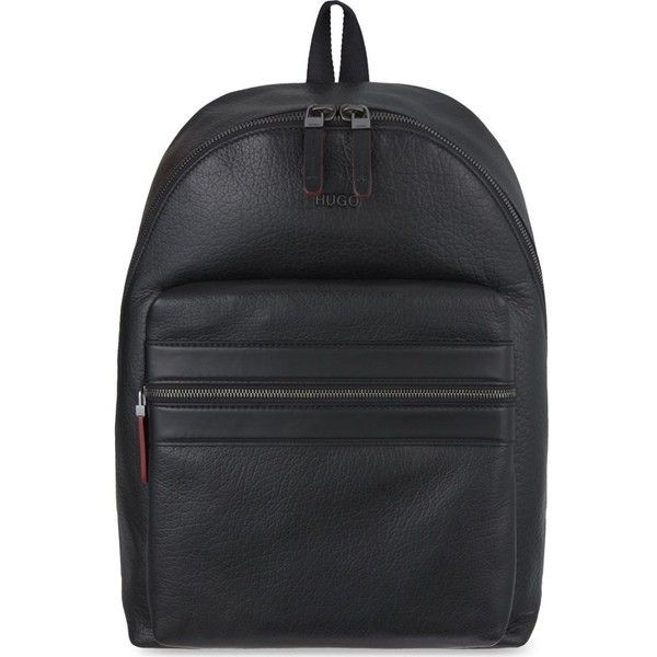 8ecd372e8854 HUGO BOSS Plain leather backpack (€475) ❤ liked on Polyvore featuring bags