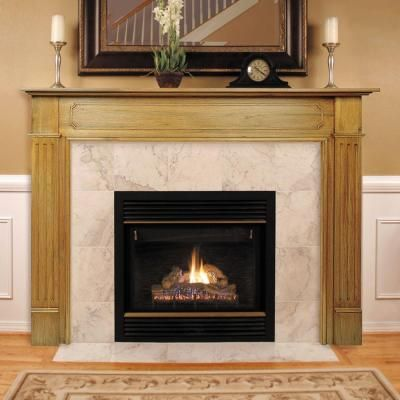 The Williamsburg 50 in. x 42 in. Unfinished Fireplace Mantel-110-50 - The Home Depot | Wood ...