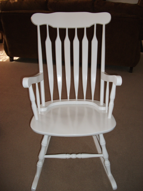 Kid Kraft Wood Adult Rocking Chair: Bought It At Walmart For $145. Barely  Used. Still Sturdy And Strong. However, It Did Get Scratched Up During A  Move So I ...